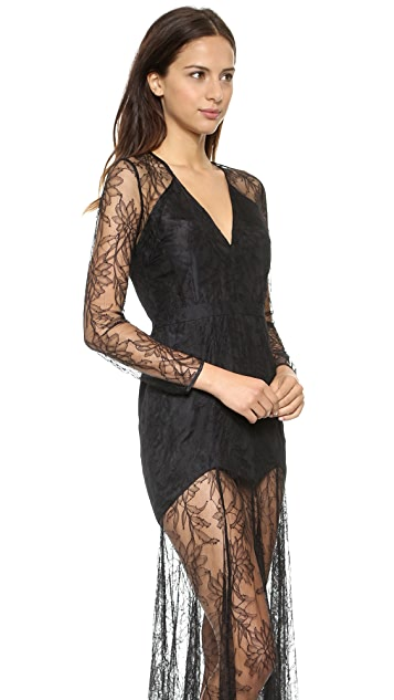 Michelle Mason Lace Gown