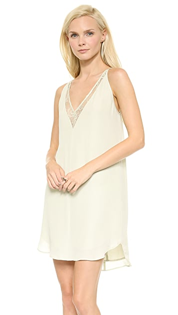 Michelle Mason Slip Dress with Lace