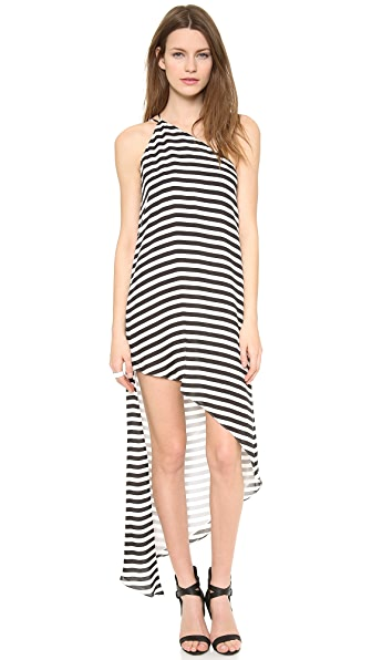 Mason by Michelle Mason Asymmetrical Maxi Dress