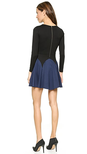 Michelle Mason Long Sleeve Flare Dress