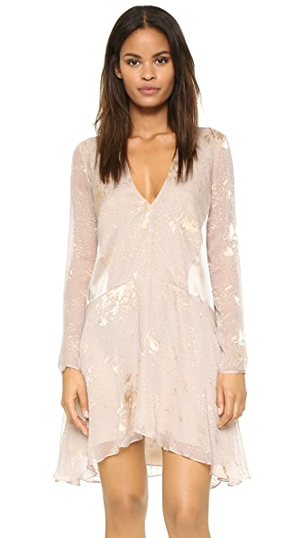 Mason By Michelle Mason Long Sleeve Mini Dress - Oyster