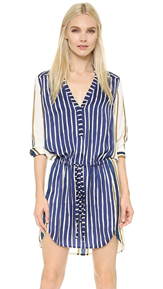 Mason By Michelle Mason Mixed Stripe Dress - Blue Stripe