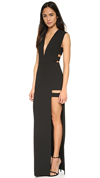 Michelle Mason Cage Plunge Gown