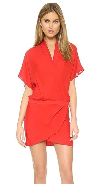 Michelle Mason Wrap Mini Dress - Red