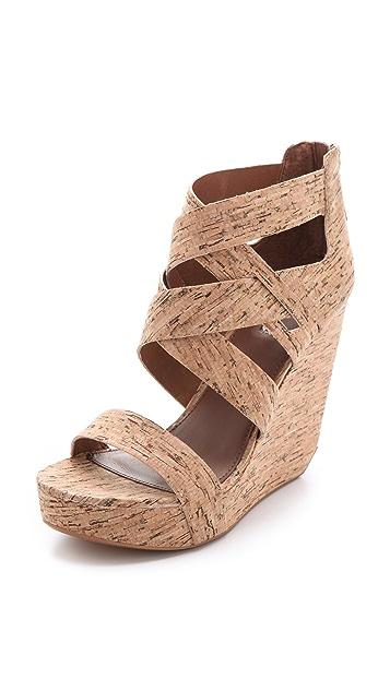 Matiko Stacey Cork Wedge Sandals