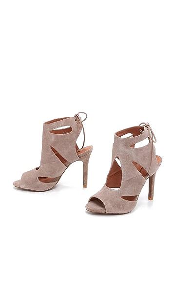 Matiko Octavia Suede Cutout Sandals