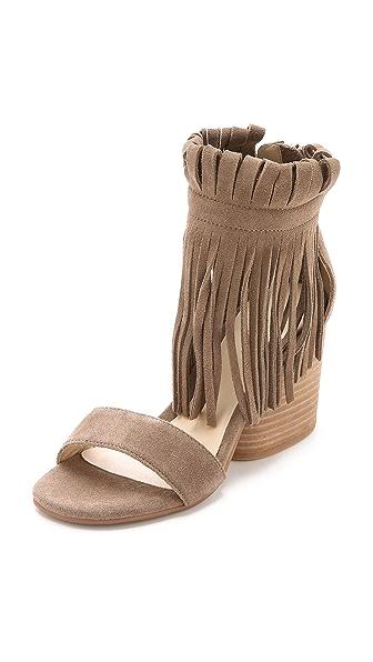 Kupi Matiko online i prodaja Matiko Morgan Fringe Suede Sandals Taupe haljinu online