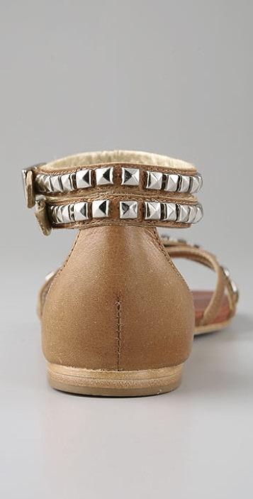 Matt Bernson Barracuda Silver Stud Sandals