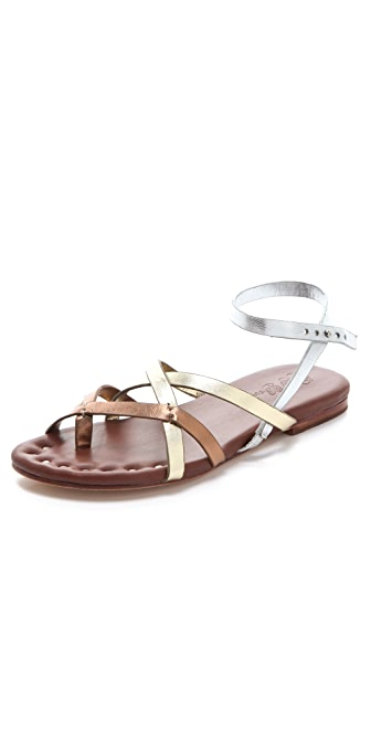 Matt Bernson Jack Metallic Strappy Flat Sandals