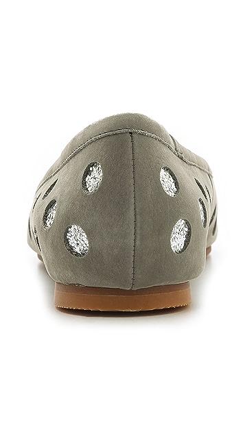Matt Bernson Stripes & Sequins x Matt Bernson Mulberry Polka Dot Flats