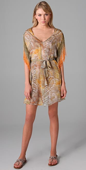 Matthew Williamson Escape Fringed Tunic Dress