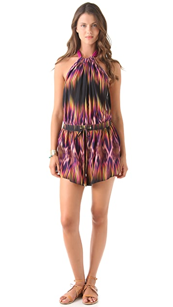 Matthew Williamson Escape Faze Stripe Waterfall Playsuit