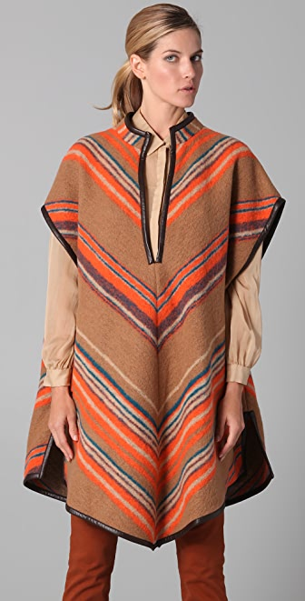 Matthew Williamson Blanket Striped Poncho
