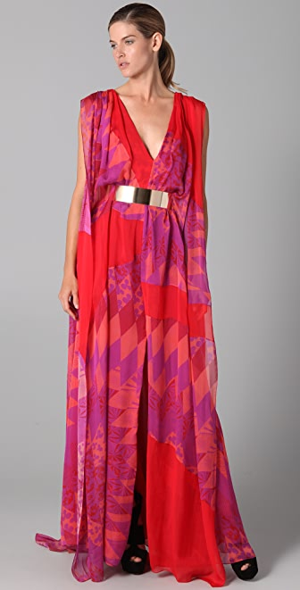 Matthew Williamson Sail Gown with Belt