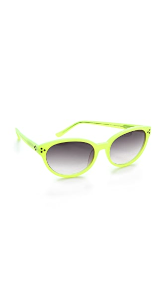 Matthew Williamson Neon Pointed Oval Sunglasses