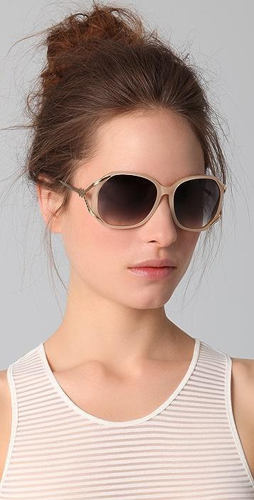 Matthew Williamson Acetate Rounded Sunglasses