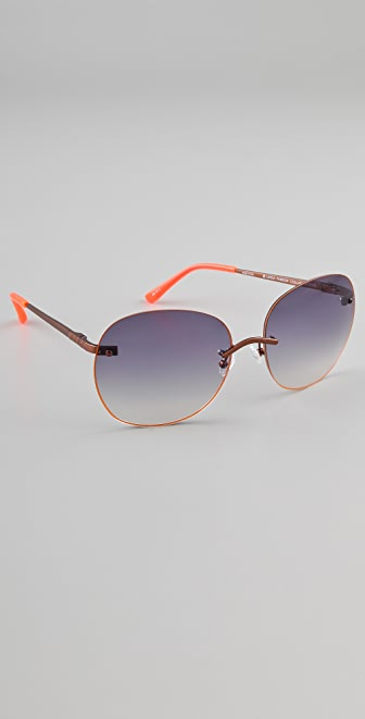 Matthew Williamson Neon Rim Sunglasses