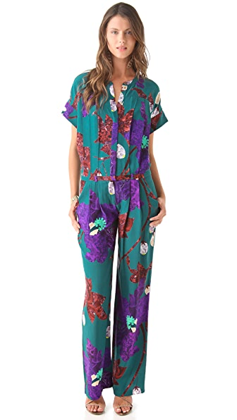 Matthew Williamson Marble Floral Jumpsuit