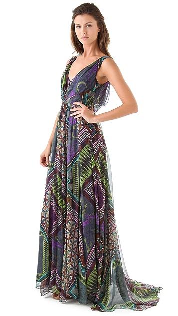 Matthew Williamson Tile Print Gown