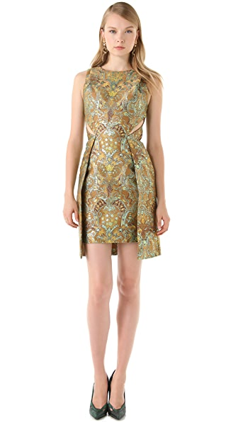 Matthew Williamson Brocade Cutout Dress