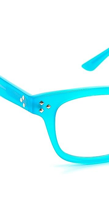 Matthew Williamson Studded Thick Rimmed Glasses