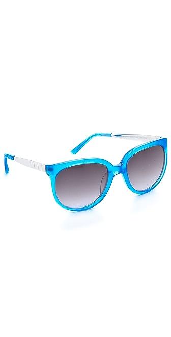 Matthew Williamson Neon Oversized Sunglasses