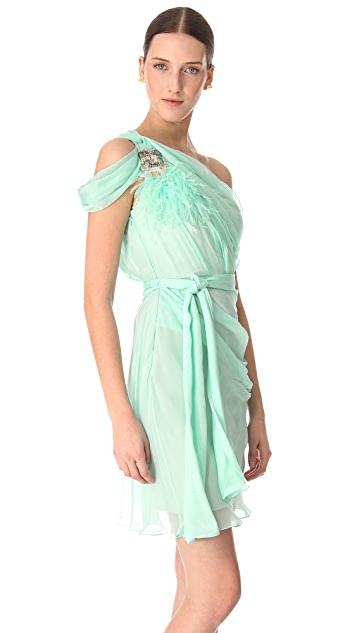 Matthew Williamson One Shoulder Silk Dress