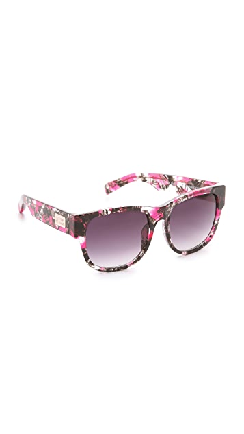 Matthew Williamson Printed Curved Square Sunglasses