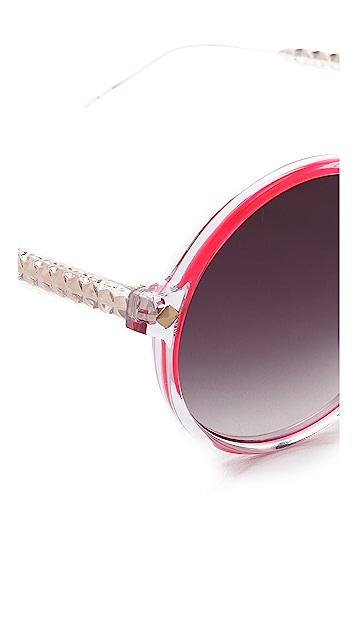 Matthew Williamson Transparent Round Sunglasses
