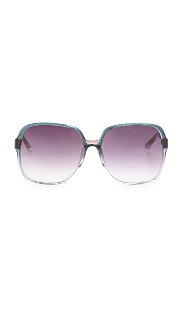 Matthew Williamson Ombre Oversized Sunglasses