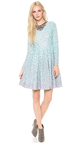 Matthew Williamson Box Pleat Embroidered Dress
