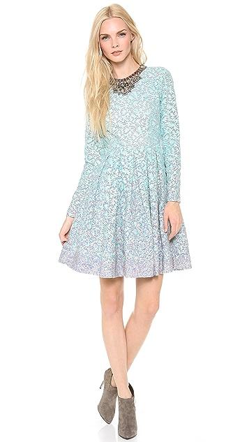 Matthew Williamson Box Pleat Embroidered Dress