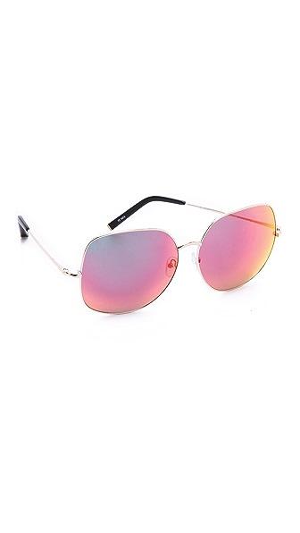 Matthew Williamson Крупные зеркальные солнцезащитные очки