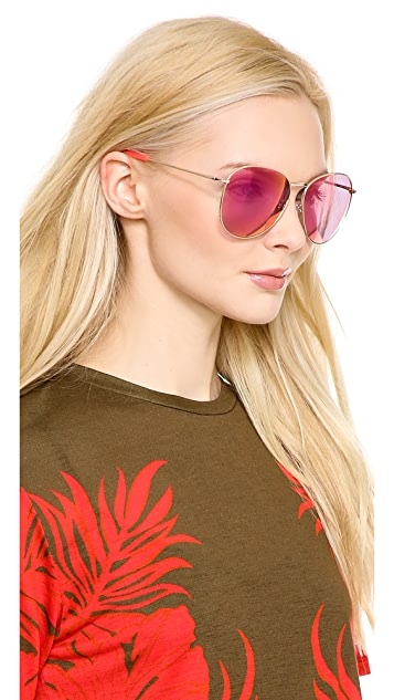 Matthew Williamson Revo Mirrored Sunglasses