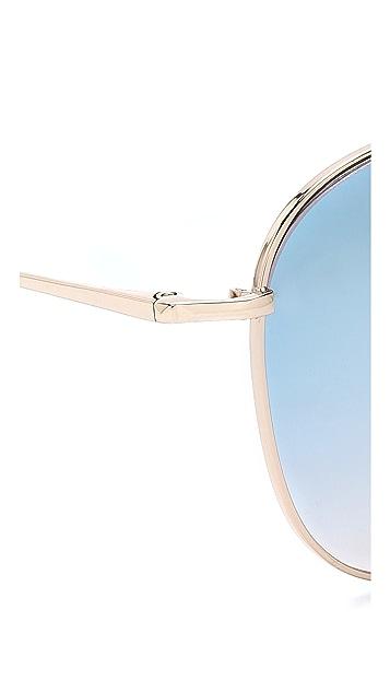 Matthew Williamson Mirrored Sunglasses