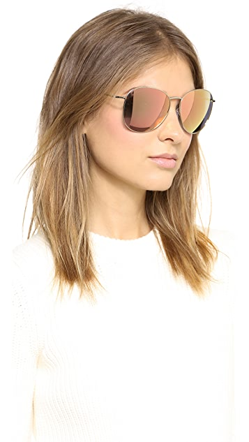 Matthew Williamson Round Mirrored Sunglasses