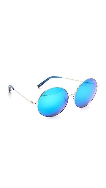 Matthew Williamson Round Mirred Sunglasses