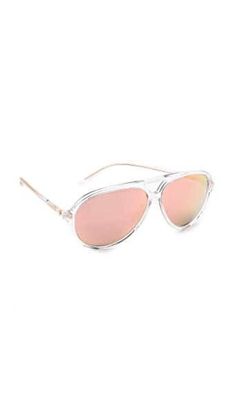 Matthew Williamson Aviator Mirrored Sunglasses