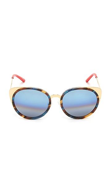 Matthew Williamson Round Cat Eye Sunglasses