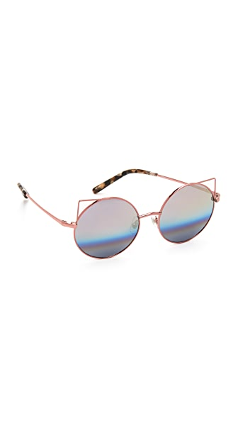 Matthew Williamson Metal Cat Sunglasses