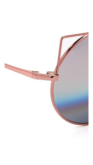 Matthew Williamson Metal Cat Sunglasses