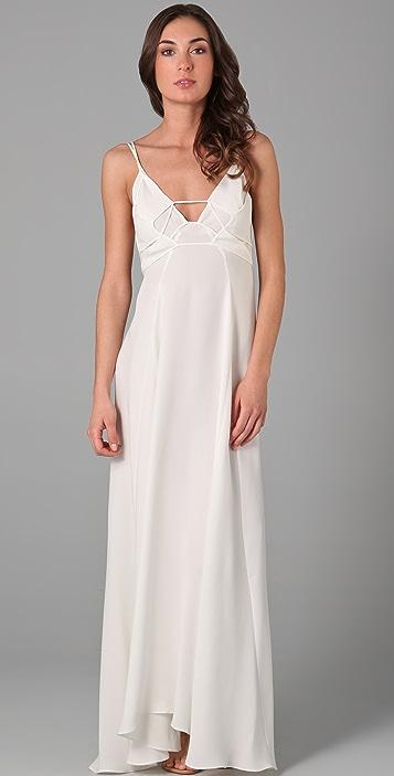 MAXAZRIA Geometric Overlay Dress