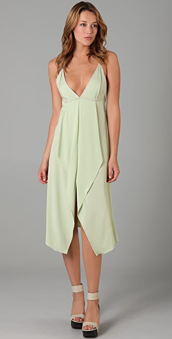 MAXAZRIA Crepe Knit Dress