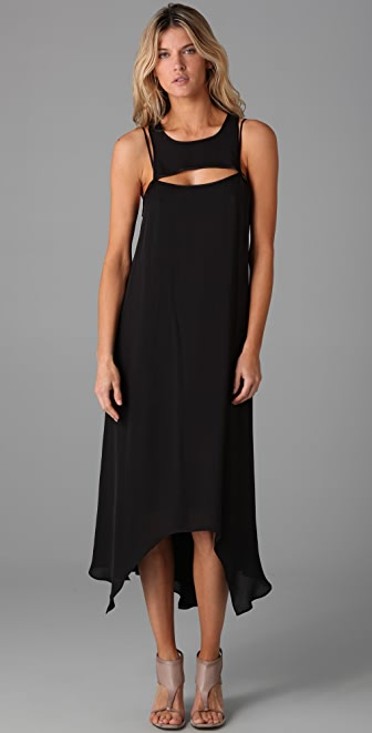 MAXAZRIA Georgette Cocktail Dress