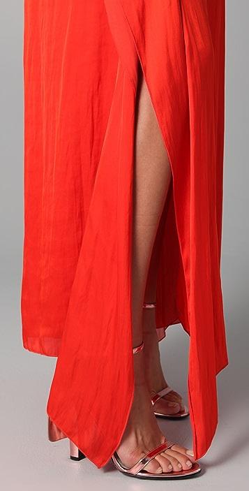 MAXAZRIA Satin Cocktail Dress