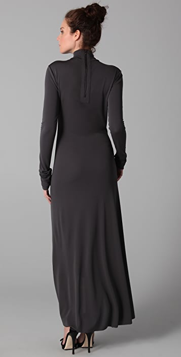 MAXAZRIA Mock Neck Cocktail Dress