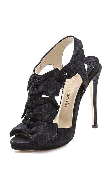 Max Kibardin Sling Back Bow Heeled Sandals