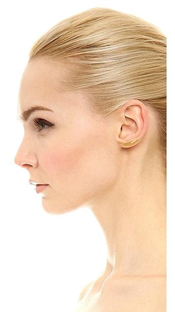 Maria Black Cresent Earring Set