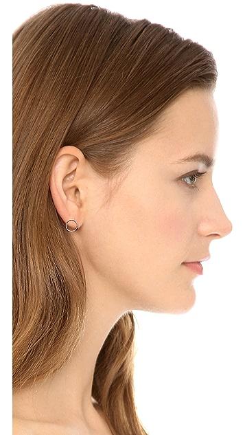 Maria Black Mono Circle Earrings