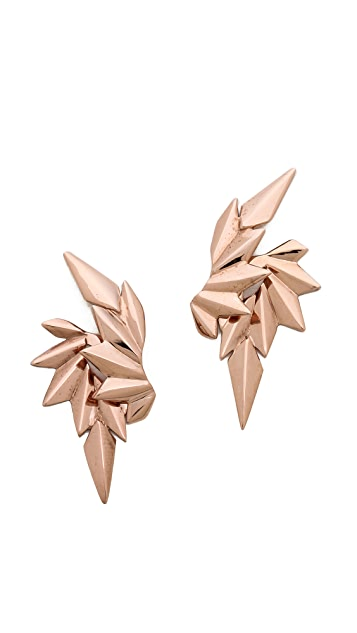 Maria Black Wing Earring Set